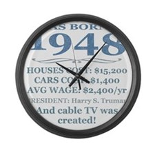 Birthday Facts-1948 Large Wall Clock