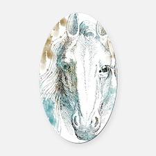 Horse Oval Car Magnet