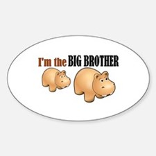 Big Brother (Hungry Hippo) Oval Decal