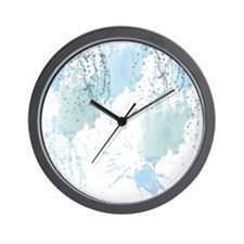Blue Watercolor Abstract Wall Clock