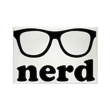 Black Nerd Glasses Rectangle Magnet