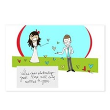 For a Wedding Day Postcards (Package of 8)