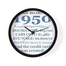 Birthday Facts-1950 Wall Clock