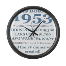 Birthday Facts-1953 Large Wall Clock