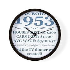 Birthday Facts-1953 Wall Clock