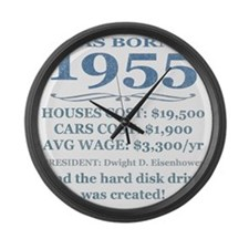 Birthday Facts-1955 Large Wall Clock