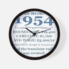 Birthday Facts-1954 Wall Clock