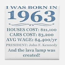Birthday Facts-1963 Tile Coaster