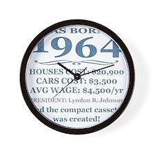 Birthday Facts-1964 Wall Clock