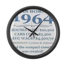 Birthday Facts-1964 Large Wall Clock