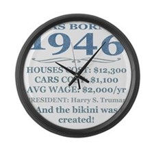 Birthday Facts-1946 Large Wall Clock