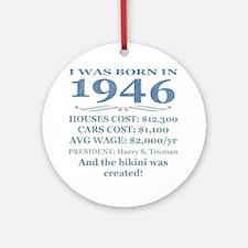 Birthday Facts-1946 Round Ornament
