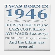 Birthday Facts-1946 Tile Coaster