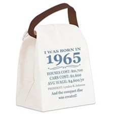 Birthday Facts-1965 Canvas Lunch Bag