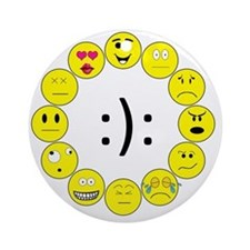 Emoticons Round Ornament