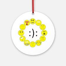 Emoticons Round Ornament