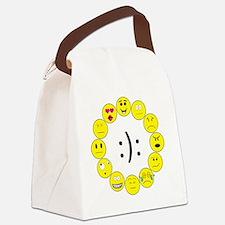 Emoticons Canvas Lunch Bag