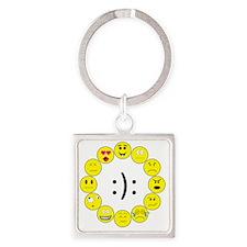 Emoticons Square Keychain