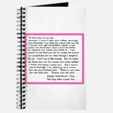 To My Forever Girl Journal
