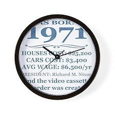 Birthday Facts-1971 Wall Clock