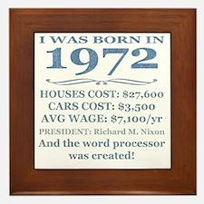 Birthday Facts-1972 Framed Tile