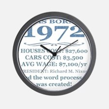 Birthday Facts-1972 Wall Clock