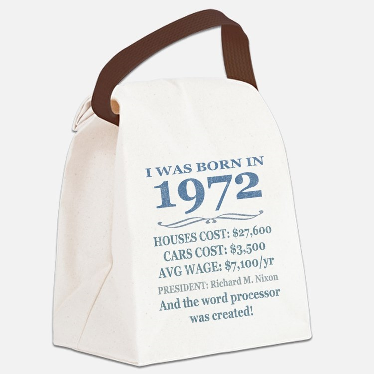 Birthday Facts-1972 Canvas Lunch Bag
