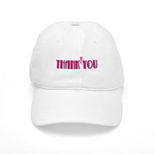 Thank You -Pink Baseball Cap