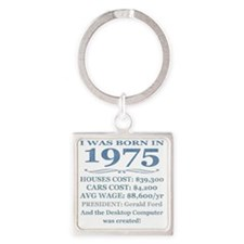 Birthday Facts-1975 Square Keychain