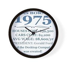 Birthday Facts-1975 Wall Clock