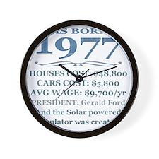 Birthday Facts-1977 Wall Clock