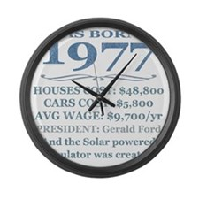 Birthday Facts-1977 Large Wall Clock