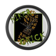 Hiker Chick - Boot Large Wall Clock