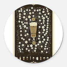 beer Round Car Magnet