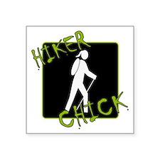 "Hiker Chick - Hiker Square Sticker 3"" x 3"""