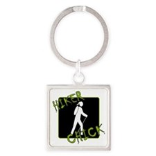 Hiker Chick - Hiker Square Keychain