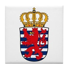 Luxemburg Coat of Arms Tile Coaster