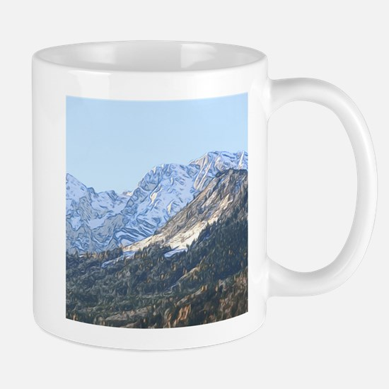 austrian landscape digital Mugs
