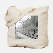 railroad track digital Tote Bag