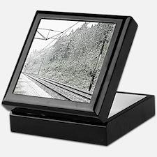 railroad track digital Keepsake Box
