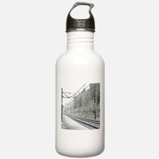 railroad track digital Water Bottle