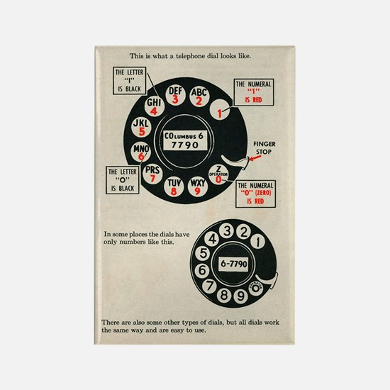 FIN-rotary-phone-instructions-6x4 Rectangle Magnet
