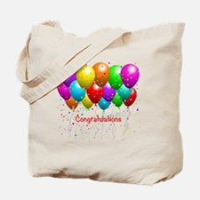 Congratulations Balloons Tote Bag