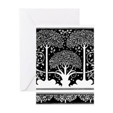 Art Nouveau Vintage Tree Pattern Greeting Cards
