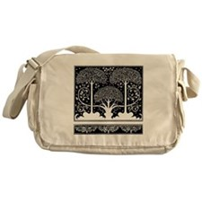 Art Nouveau Vintage Tree Pattern Messenger Bag