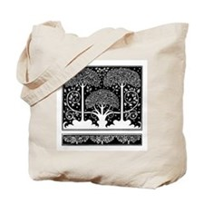 Art Nouveau Vintage Tree Pattern Tote Bag