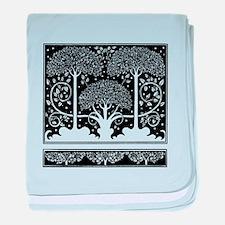 Art Nouveau Vintage Tree Pattern baby blanket