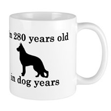 40 birthday dog years german shepherd black 2 Mugs