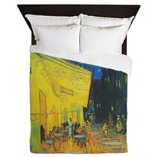 Van Gogh Cafe Terrace at Night Queen Duvet