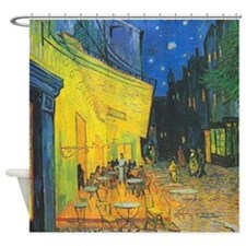 Van Gogh Cafe Terrace at Night Shower Curtain